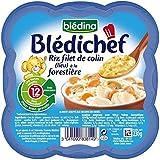 Blédina blédichef riz filet de colin (lieu) à la forestiere 230g dès 12 mois - ( Prix Unitaire ) - Envoi Rapide...
