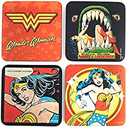 DC Comics Wonder Woman Coaster Posavasos Set 4 Piezas