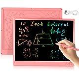 bhdlovely 16 Pollici LCD Scrittura Tablet - con disegno aritmetico ricaricabile USB e lavagna a colori per bambini…