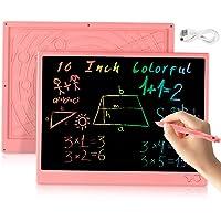 bhdlovely LCD Tablette D'écriture 16 Pouces Coloriage Ardoise Magique Chargable Tablette Dessin pour Enfants Adultes…