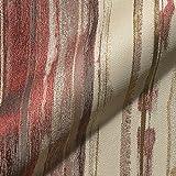 Stoff Polsterstoff Möbelstoff Bezugsstoff Meterware für Stühle, Eckbänke, etc. - Banda Rot Gestreift - MUSTER