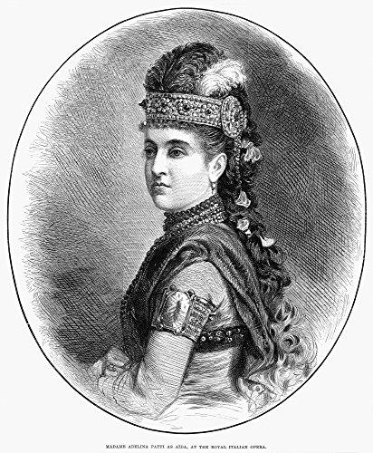 Adelina Patti (1843-1919). /Nitalian Coloratura Soprano. 'Madame Adelina Patti As Aida at The Royal Italian Opera.' Line Engraving English 1879. Kunstdruck (45,72 x 60,96 cm) Adelina Home Collection
