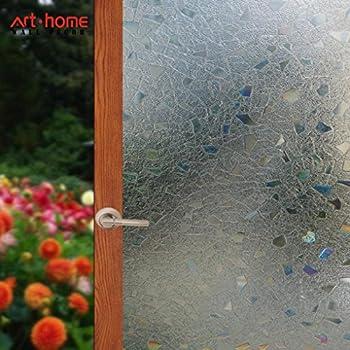Arthome Film 60 /× 254CM Film Intimit/é Film Electrostatique Prot/ége Film Opaque Film Autocollant de Fen/être Effet Anti-UV Verre Film AH017B