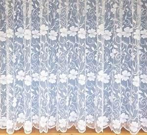 voilages rideaux de dentelle floral 3952 183cm de long blancs cuisine maison. Black Bedroom Furniture Sets. Home Design Ideas