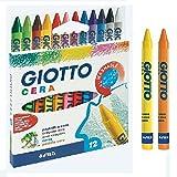 Giotto 12Crayons Gras Rondes de Couleurs Vives 281200