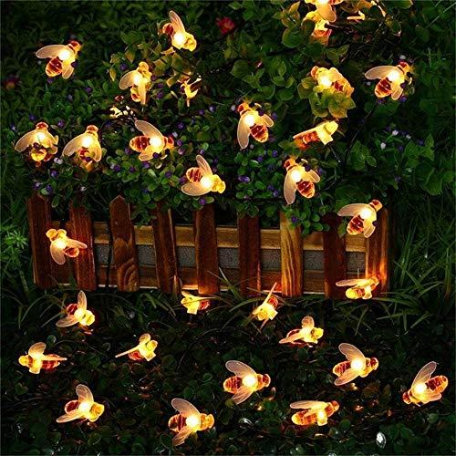 Quace Christmas Halloween Festival LED String Lights Curtain Honey Bee Battery Powered...