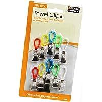 Towel Clips Hangers Tea Hook Kitchen Beach Caravan Sunbed Face Travel Dishcloth (1 Pack)
