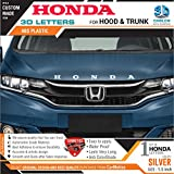#3: CarMetics Honda 3D Letters for Honda Amaze 2018 Silver Color 1 Set