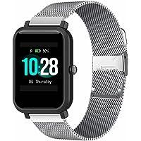 ID205L Cinturino per smartwatch,Banda di ricambio floreale stampata in silicone morbido a sgancio rapido,Fili di acciaio…