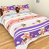 Bhavy Polycotton Double Bedsheet with 2 ...