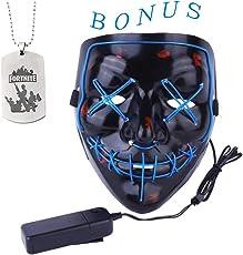 AimdonR Halloween-Maske, LED Light Purge Maske, Festival Cosplay, Halloween-Kostüm