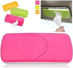 ShopAIS Universal Creative Car Sun Visor Tissue Box Slide Cover Paper Napkin Holder