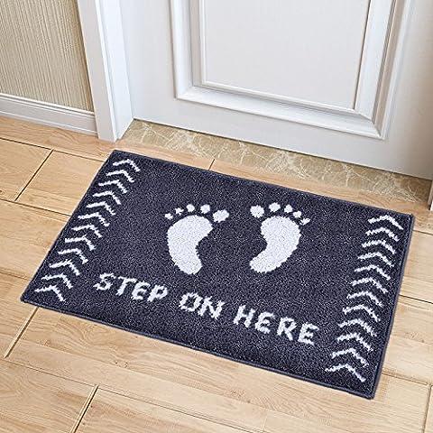 pragoo Polyester Paillasson doux tapis maison welcome absorbant tapis de pied Envers antidérapant lavable en machine, Feet