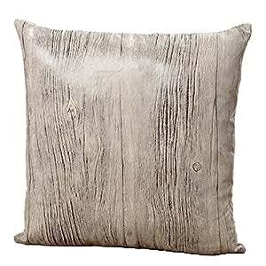 kissen mit innenfutter grau holzoptik 40x40 polyester dekokissen sofakissen kopfkissen holz. Black Bedroom Furniture Sets. Home Design Ideas