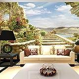 Wongxl Der Aufbau Der Ozeantapete 3D Stereo-Cd Und Große Landschaftsmalerei Romantisches Schlafzimmer Wohnzimmer Fernsehvideowand 3D Tapete Hintergrundbild Fresko Wandmalerei Wallpaper Mural 300cmX250cm