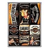 Nostalgic-Art 83074 Harley-Davidson - Garage Babes, Magnet-Set (9teilig)