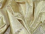 Minerva Crafts Gewebter Metallic-Brokatstoff, Meterware,