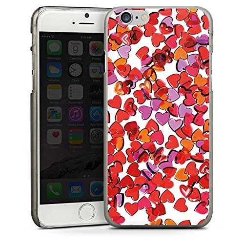 Apple iPhone 5s Housse Étui Protection Coque Amour Amour C½ur CasDur anthracite clair