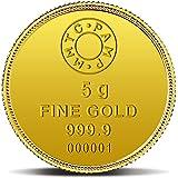 MMTC-PAMP Lotus 24k (999.9) 5 gm Gold Coin