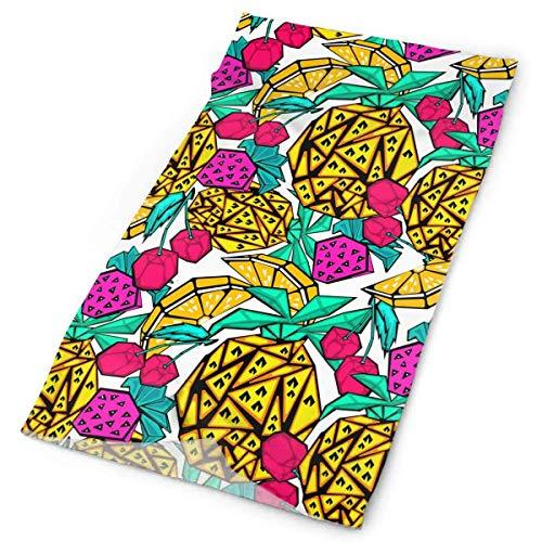 Hoklcvd Abstract Geometric Fruit Men Women Face Mask Neck Gaiter Sun Shade Shield Bandanas Headwear Wide Headbands Scarf Head Wrap Design20