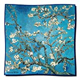 Artis Vivendi Tuch Seidentuch V. Gogh - Mandelbaum 100 x 100 cm