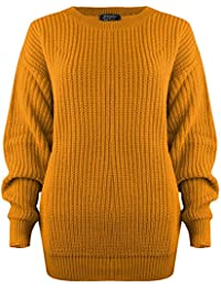 SA Fashions Oversized Ladies Womens Chunky Baggy Jumper Knitted Sweater Thick Top S-XL 8-18