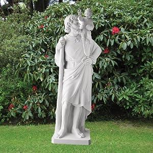 61sug%2B6V nL. SS300  - Marble Garden Statues - St. Christopher 199cm Religious Sculpture