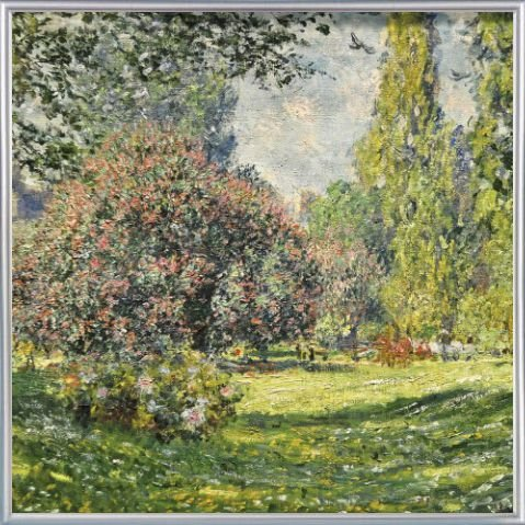 Park Rahmen (Claude Monet Poster Kunstdruck und Kunststoff-Rahmen - Der Monceau-Park, 1876, Detail (40 x 40cm))