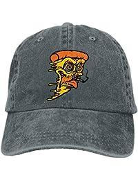 88f14d64dc7 Humorous Pizza Cowboy Baseball Cap for Unisex Trucker Style Hat