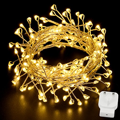 fairy-lights-for-bedroom-oak-leaf-160-led-plug-in-starry-string-light-on-6ft-silver-wire-mains-power