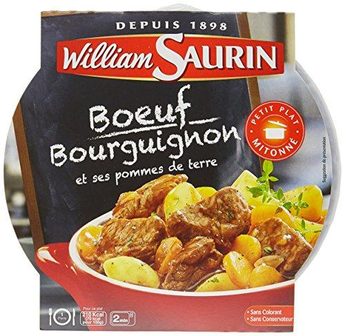 William Saurin Boeuf Bourguignon et ses pommes de terre 300 g - Lot de 4