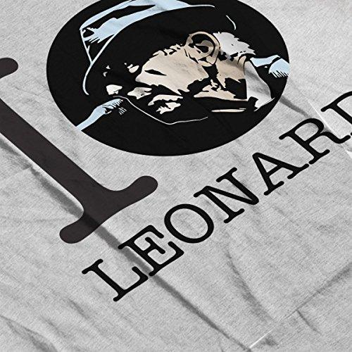 I Heart Leonard Cohen Men's T-Shirt Heather Grey