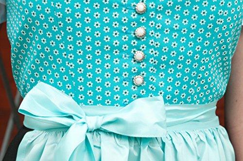 Dirndl midi rot, blau oder pink 69 cm mit Schürze , handgefertigtes Wiesn Dirndl, Trachtenmode für Damen nicht nur für das Oktoberfest türkis blau