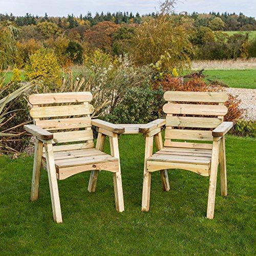 Zest4Leisure Abbey Companion Seat - Wood