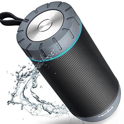 Altavoz Bluetooth Portatil COMISO Ture Wireless Estéreo 12W Subwoofer Inalámbrico Portátil Con Radiador Pasivo Altavoz Bluetooth Impermeable con 36 Horas de Emisión Continua (Negro)