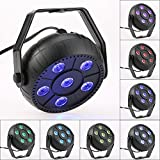 Lixada LED Par Lights 13W 6 LED Disco DJ Stage Lights 3 in 1 Wash light Music Activated Auto Run for Indoor Disco KTV Club Party