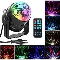 Bola Discoteca con 7 Colores RGB Luz, Mini LED Lámpara Discoteca de Sonido Actived con Control Remoto para Disco Partido Fiesta Bar Etapa Boda etc