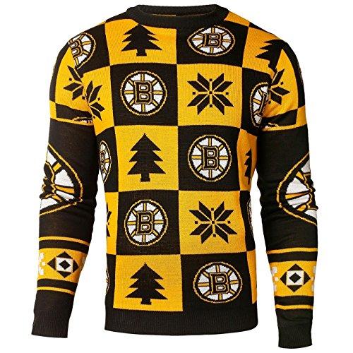 Boston Bruins Patches Crewneck NHL Ugly Sweater XXL (Pullover Com Hässliche)