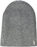 Polo Ralph Lauren Damen Strickmütze Pony-HAT-Wool, Grau (Fawn Grey/Silver 2Yel), One Size