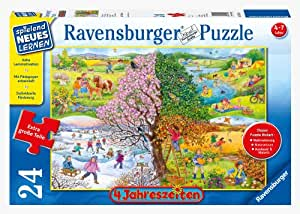 Ravensburger 05503 - 4 Jahreszeiten - 24 Teile Puzzle