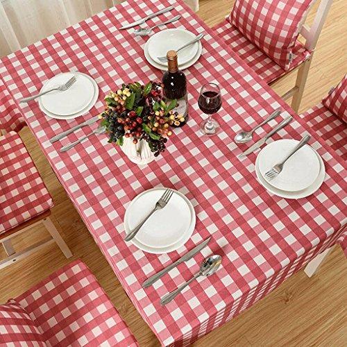 TXXM Nappes Nappe en polyester à carreaux rouge (taille : 130 * 130cm)