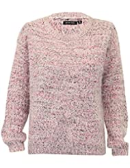 Femmes Pull Mohair Brave Soul Femmes Pull Tricot Ras De Cou Top Hiver Neuf