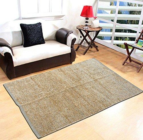 Yellow Weaves Beige Carpet - 3 X 5 Ft