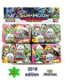 #8: Kingwell™ Pokemon cards packs New 2018 Sun and Moon Guardians Rising Series Trading Card Game With Metal Box For Kids