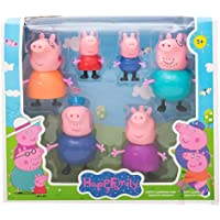 MK Pig Family Set of 6 Best Gift for Kids - Peppa Pig, George, Daddy Pig, Mommy Pig, Granny Pig, Grandpa Pig,Soft Rubber…