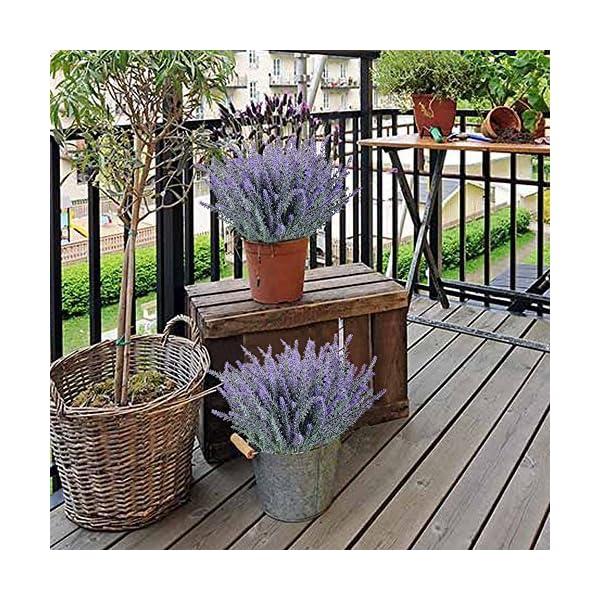 Frmarche Artificial Flores Pure Lavanda Romántico Nieve de Lavanda para Decoración Hogar Habitación Garden Party Boda…