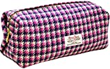 Vagabond Bags Harris Tweed Pink Large Boxy Bag Kulturtasche, 26 cm, (Pink Check)