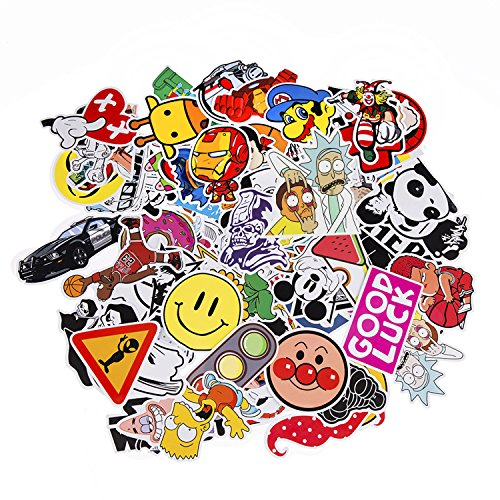 Neuleben Sticker Pack 100-Pcs Adesivi Stickers Vinili per Computer Portatile, Bambini, Automobili, motociclette, Bicicletta, autoadesivi paraurti Hippie Decals Bomba Impermeab
