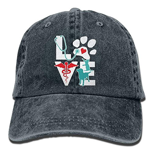 J5E7JYTE Classic Baseball Caps Veterinarian Love Cat and Dog Veterinary Hats for Men Women College Students