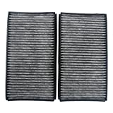 Beehive Filter 1 Pair Set Carbon Style Cabin Air Filters Replacement Part# 64316935823 64 31 6 935 823 (CUK 3139) for E60 E60 E61 E63 5 & 6 Series(Pack of 2)